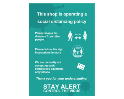 Social Distance Policy Poster