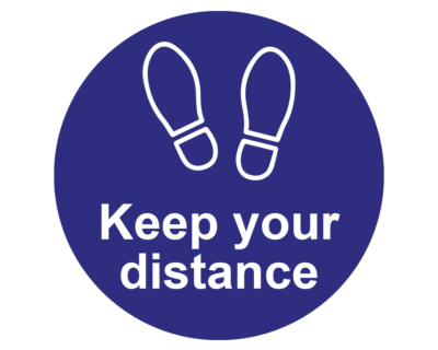 Keep your distance floor and wall stickers