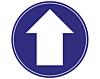 Blue Arrow Directional Stickers - Covid19 Coronavirus Floor Wall Stickers