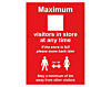 Maximum Number Of People In Store Poster - Covid19 Coronavirus Floor Wall Sticker
