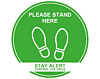 Please Stand Here - Covid19 Coronavirus Floor Wall Stickers