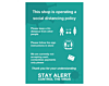 Social Distancing Policy Poster - Covid19 Coronavirus Floor Wall Stickers