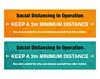 Social Distancing PVS Banners - Covid19 Coronavirus Floor Wall Sticker