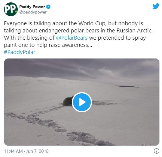 Paddy Power Tweet