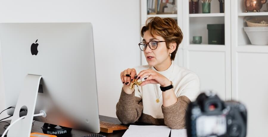 Teacher teaching online